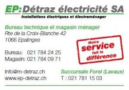 Détraz eléctricité_Epalinges