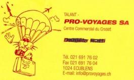 Pro-Voyages SA_FC Ecublens